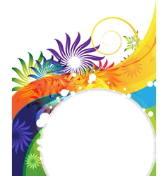 Funny rainbow flower background vector image