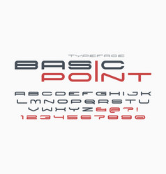 futuristic and techno display font design vector image