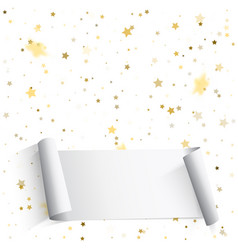 golden and silver star confetti festive of vector image
