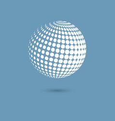 halftone spheres vector image