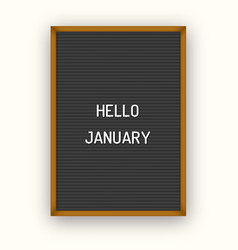 Hello january motivation quote on black vector