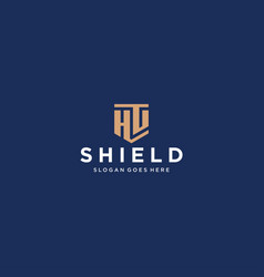 Hg letter shield icon vector