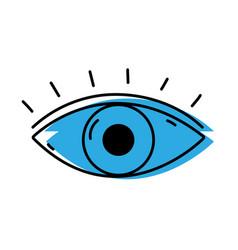 human eye vision with eyelashes design vector image
