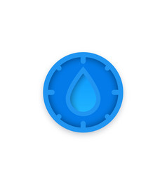 Humidity icon for apps and web vector