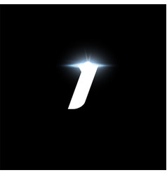 I letter logo bold italic letter for automotive vector