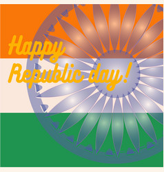 indian art flag india republic day freedom vector image