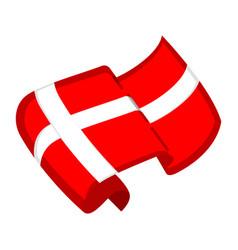 isolated flag of denmark vector image