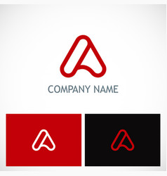 letter a line company logo vector image
