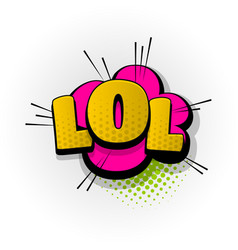 lol laugh comic book text pop art vector image