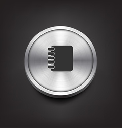 Metal Address Book Icon vector