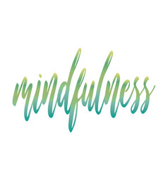 Mindfulness vector
