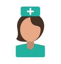 nurse staff medical hospital vector image