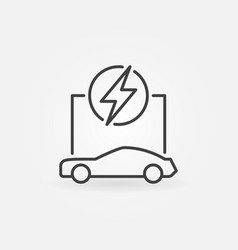 outline electric car concept icon vector image