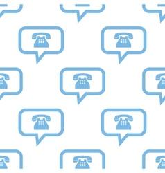 Phone seamless pattern vector image