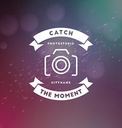 Photography Logo Design Template Retro Badge or vector