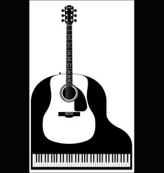 Piano and guitar vector