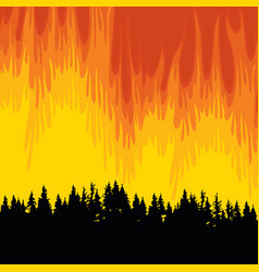 Poster on theme forest fires and vector