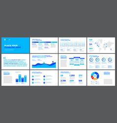 presentation templates elements vector image