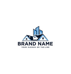 Real estate logo and building vector
