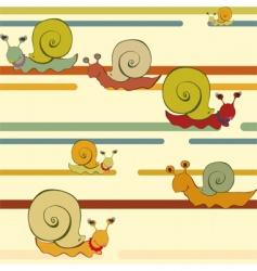 Retro snail vector