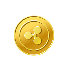 Ripple xrp crypto currency golden ripple coin icon vector