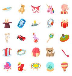 Sander icons set cartoon style vector