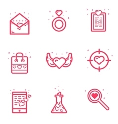set icon Valentines day vector image