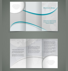 Silver brochure layout design business three fold vector