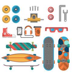 skateboard fingerboard icon sport equipment vector image