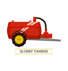 Slurry tanker machinery icon vector