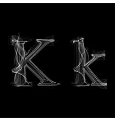 Smoke font letter k vector