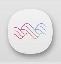 Sound spiral wave app icon uiux user interface vector