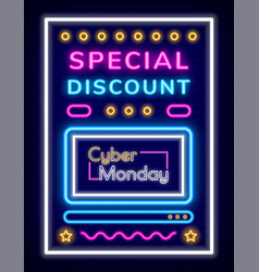 special discount and cyber monday poster vector image