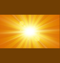 sunbeams background sun with rays vector image