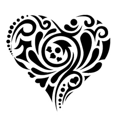 tatoo heart vector image