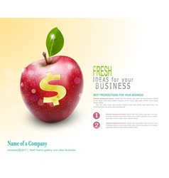 Template for business apple vector