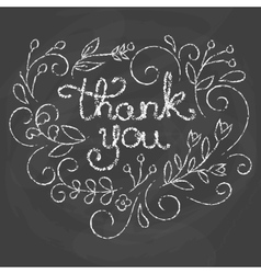 Thank you card Chalk quote vector image