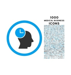 time thinking rounded icon with 1000 bonus icons vector image