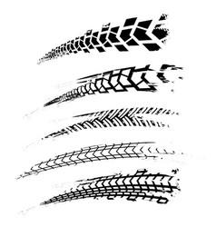 Tire tracks elements-02 vector