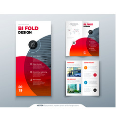 tri fold brochure design business template for vector image