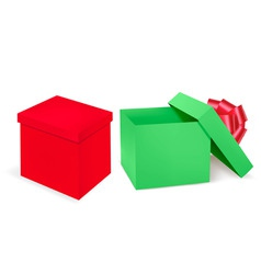 two boxs vector image