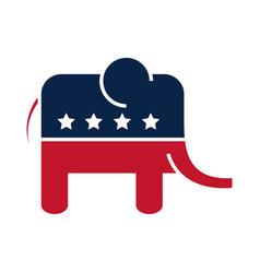 Us elections democratic party elephant emblem vector