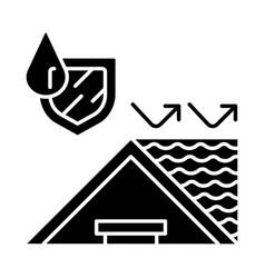 Waterprohouse roglyph icon vector