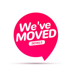 we have moved new office address icon location vector image
