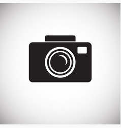 wedding photography icon on white background for vector image