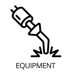 Welding equipment icon outline style vector