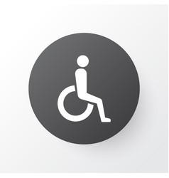 Wheelchair icon symbol premium quality isolated vector
