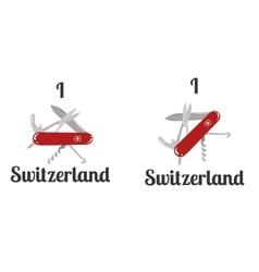 i love switzerland vector image