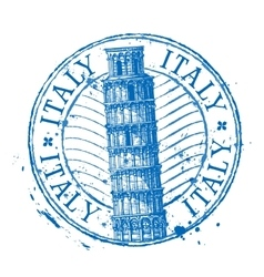Italy logo design template Shabby stamp or vector image vector image