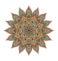 mandala isolated on white vector image